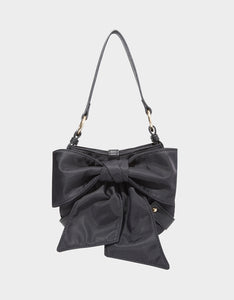 BOW TO THE CROWD SHOULDER BAG BLACK