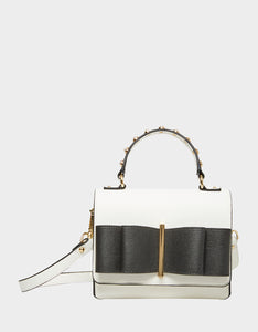 BOWING OUT CROSSBODY BLACK-WHITE