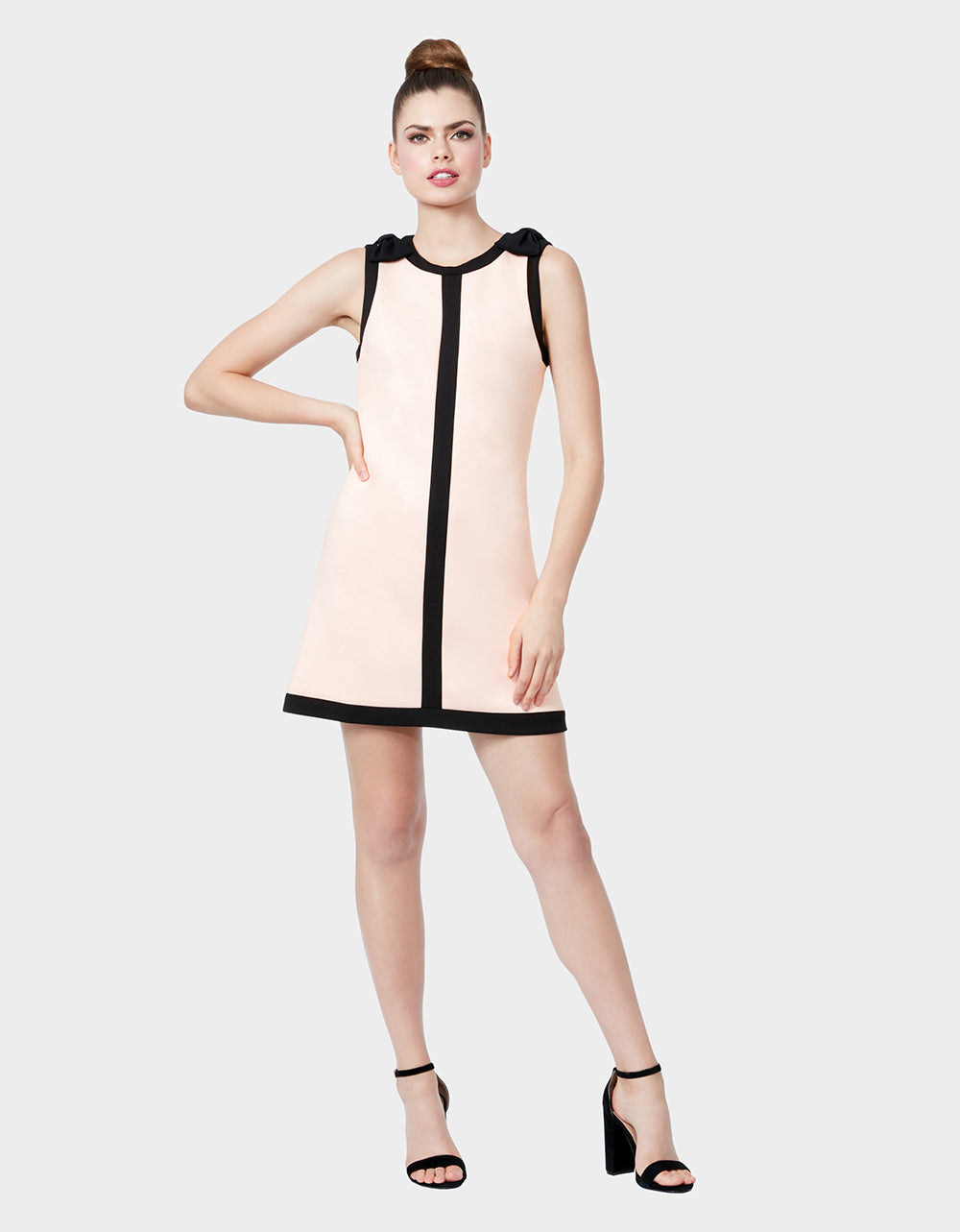 BOWS ON TOP SHIFT DRESS BLUSH - APPAREL - Betsey Johnson