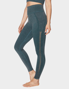 BRAIDED SIDE SEAMLESS LEGGING GREEN