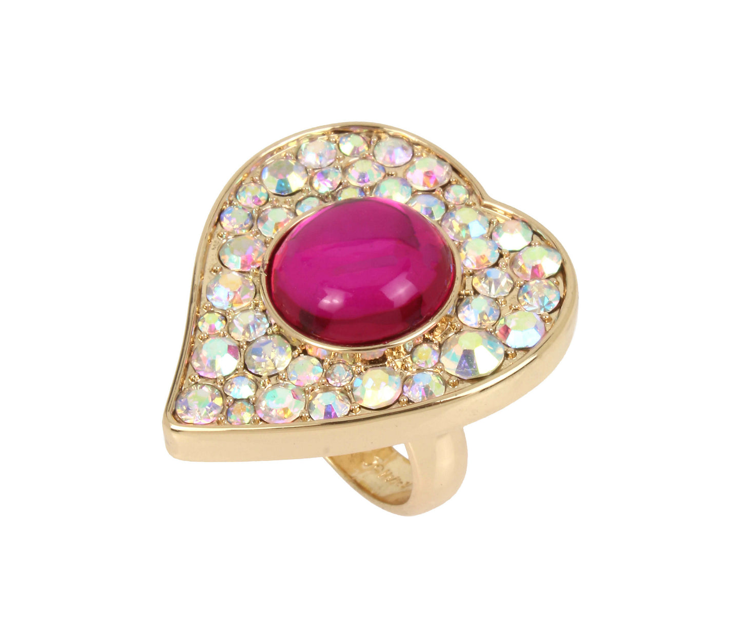 BREAKING HEARTS RING PINK - JEWELRY - Betsey Johnson