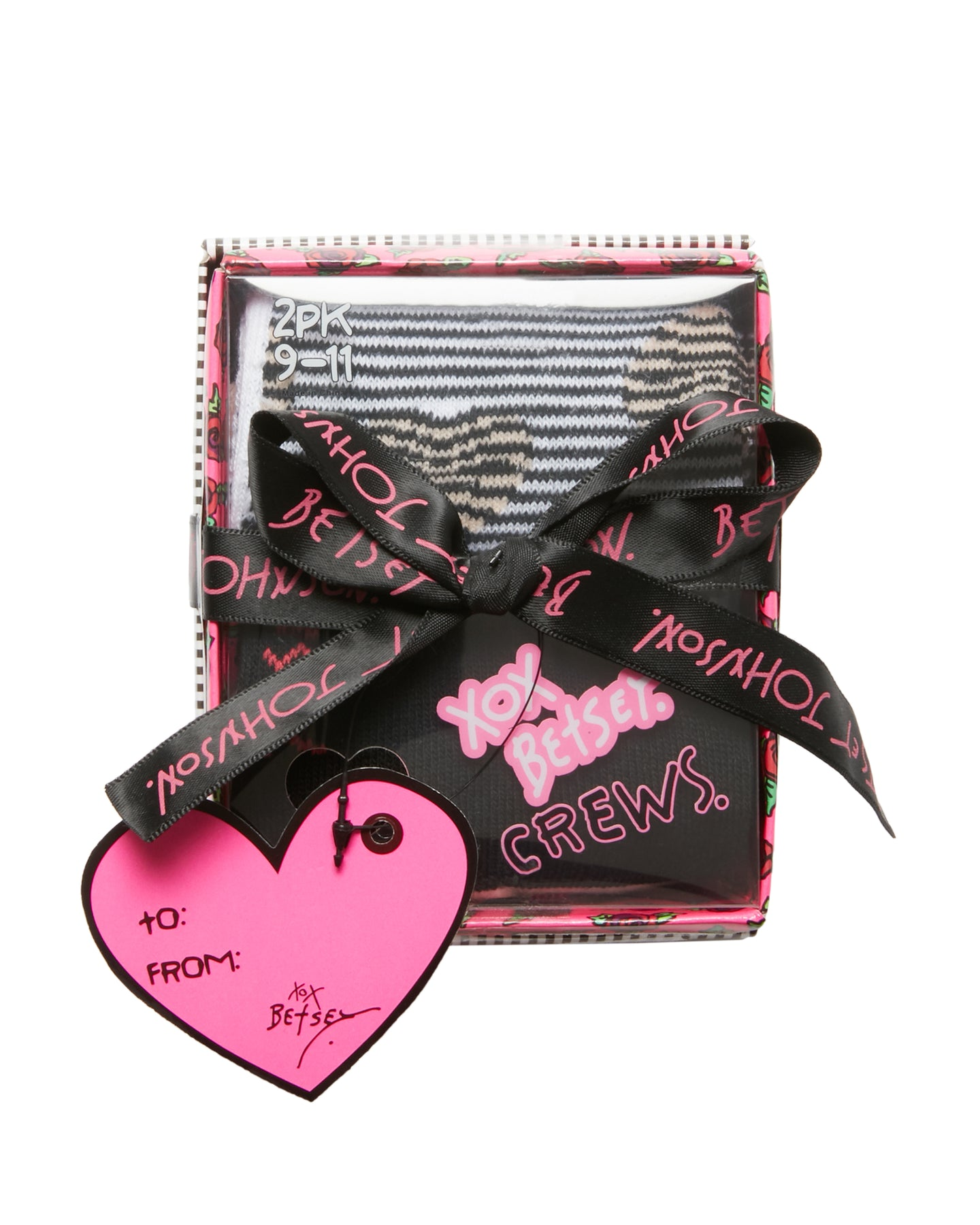 BROKEN HEART CREW 2 PACK GIFT BOX MULTI - ACCESSORIES - Betsey Johnson