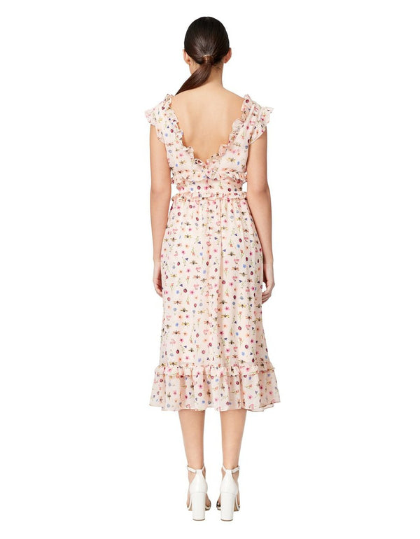 BUG GARDEN TEA LENGTH DRESS CREAM MULTI - APPAREL - Betsey Johnson