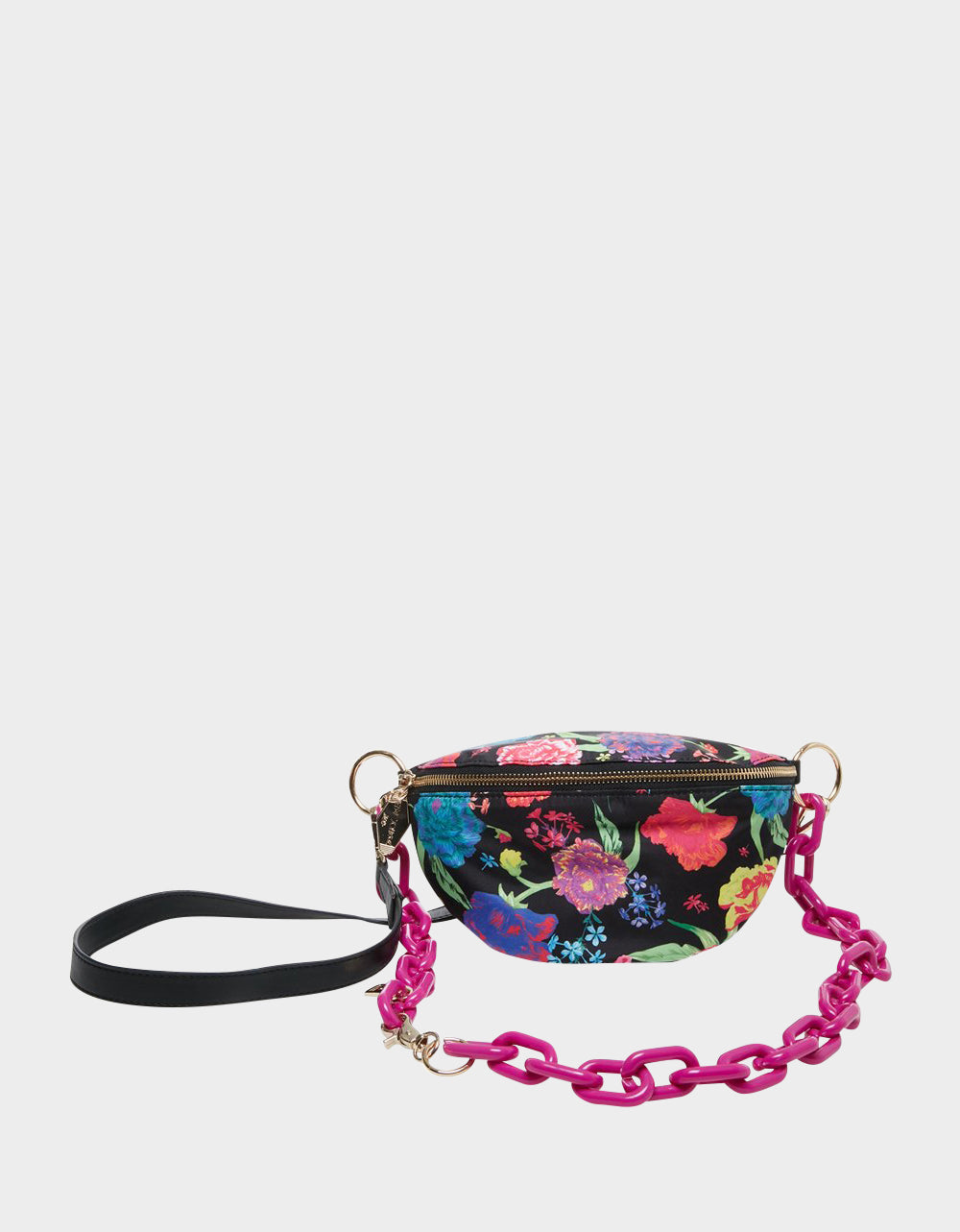 BUMMIN AROUND NYLON FANNY PACK BLACK MULTI - HANDBAGS - Betsey Johnson