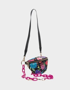 BUMMIN AROUND NYLON FANNY PACK BLACK MULTI