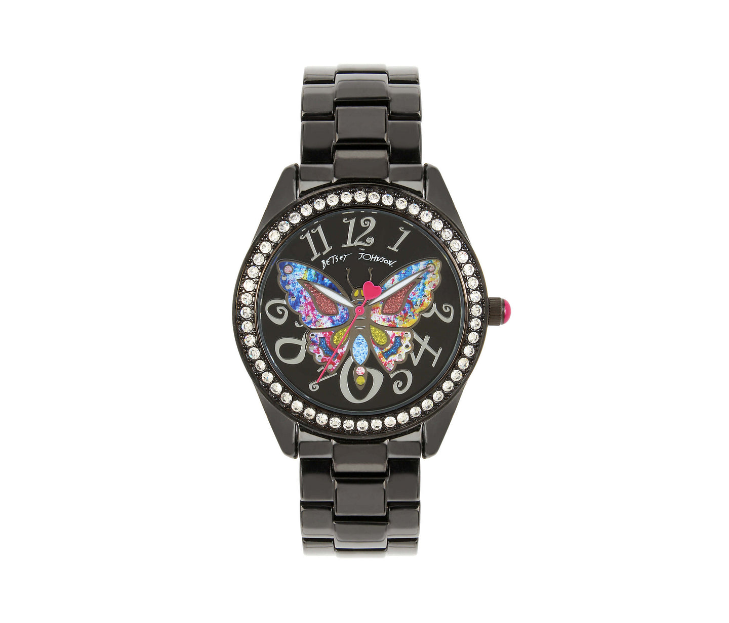 BUTTERFLY MOSAIC BLACK WATCH BLACK - JEWELRY - Betsey Johnson