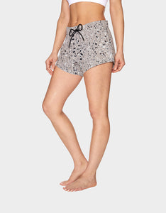 CAMO ZEBRA PRINT STRETCH WOVEN SHORT BEIGE