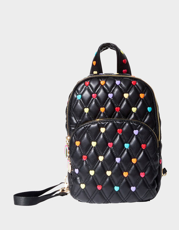 CANDY HEARTS SLING BACKPACK MULTI - HANDBAGS - Betsey Johnson