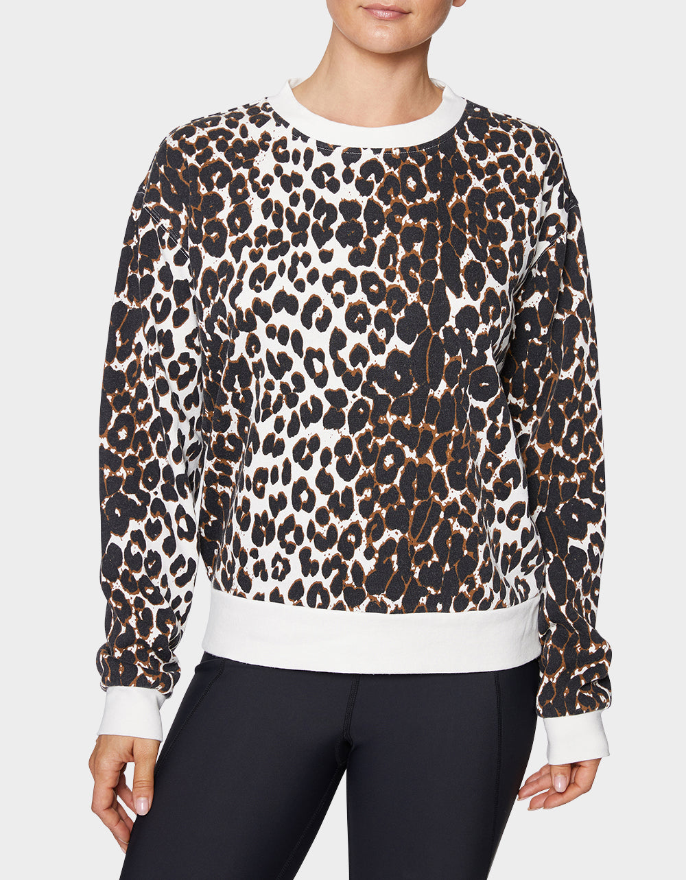 CAPRI LEOPARD SWEATSHIRT LEOPARD - APPAREL - Betsey Johnson