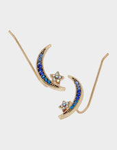 CELESTIAL PAVE MOON CRAWLER BLUE - JEWELRY - Betsey Johnson