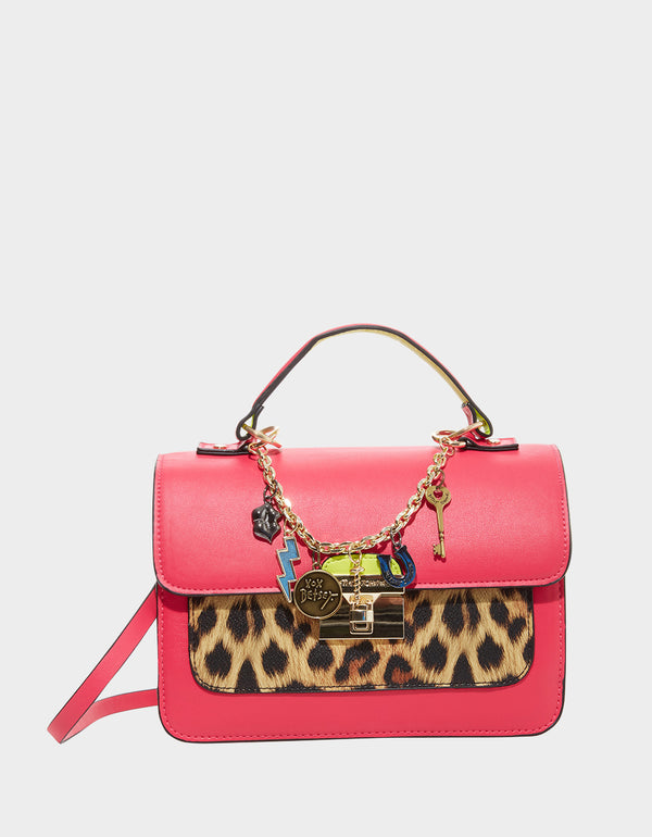 CHARMED AGAIN CROSSBODY HOT PINK - HANDBAGS - Betsey Johnson