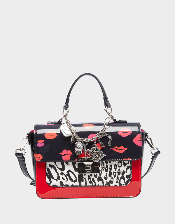 CHARMED LIFE CROSSBODY SATCHEL LEOPARD - HANDBAGS - Betsey Johnson