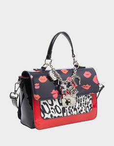 CHARMED LIFE CROSSBODY SATCHEL LEOPARD