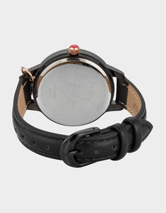 CHARMING SKULL WATCH BLACK