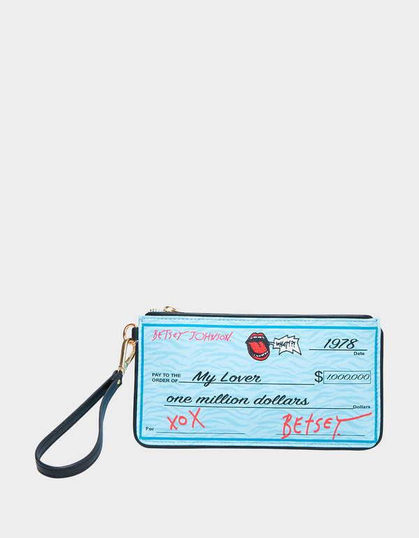CHECK ME OUT WRISTLET BLUE - HANDBAGS - Betsey Johnson