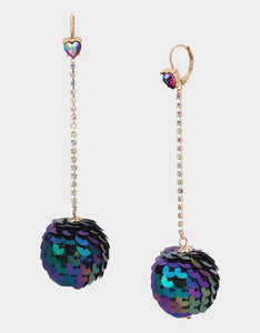 CHEERS SEQUIN BALL EARRINGS MULTI