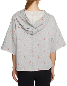 CHERRIES JUBILEE CROPPED SWEATSHIRT GREY