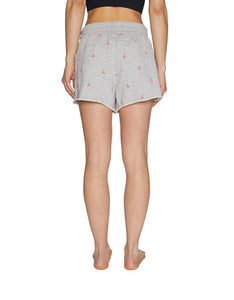 CHERRIES JUBILEE RAW EDGE SHORTS GREY