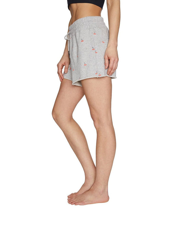CHERRIES JUBILEE RAW EDGE SHORTS GREY - APPAREL - Betsey Johnson