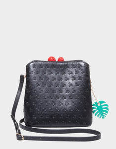 CHERRY ON TOP CROSSBODY BLACK