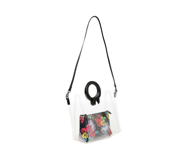CLEAR CUT CHOICE CROSSBODY BLACK - HANDBAGS - Betsey Johnson