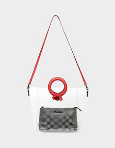 CLEAR CUT CHOICE CROSSBODY RED