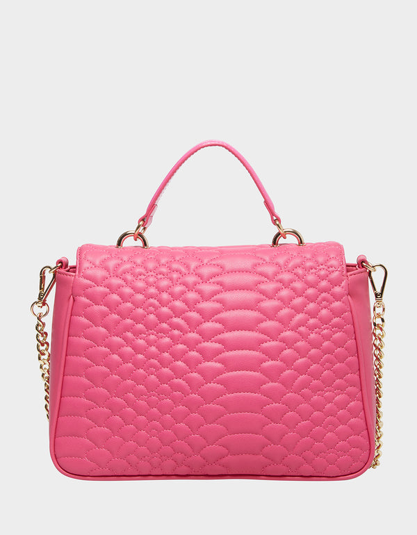 COLD BLOODED SATCHEL PINK - HANDBAGS - Betsey Johnson