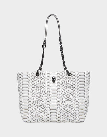 COLD BLOODED TOTE WHITE BLACK