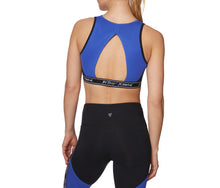 COLORBLOCK LOGO BAND BRA BLACK BLUE - APPAREL - Betsey Johnson