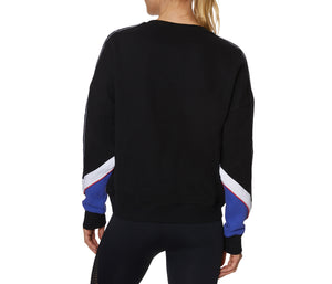 COLORBLOCK LOGO BAND SWEATSHIRT BLACK BLUE