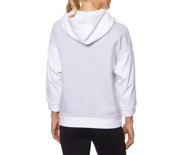 COLORBLOCK TRACK HOODIE WHITE - APPAREL - Betsey Johnson