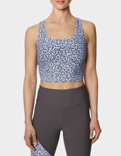 COOL LEOPARD CROP TANK BRA VIOLET - APPAREL - Betsey Johnson