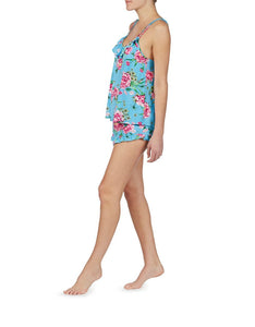 COPACABANA SLINKY SHORT SET BLUE