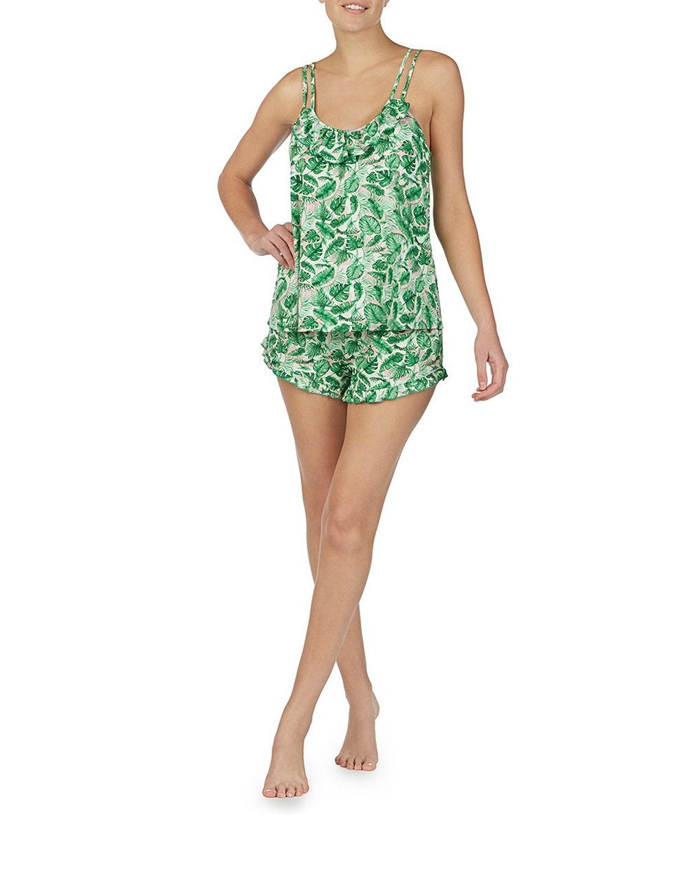 COPACABANA SLINKY SHORT SET GREEN - APPAREL - Betsey Johnson