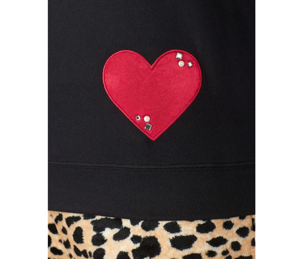COZY TIME JERSEY TOP BLACK - APPAREL - Betsey Johnson