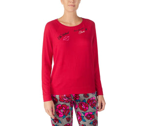 COZY TIME JERSEY TOP RED
