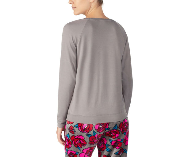 COZY TIME JERSEY TOP SILVER - APPAREL - Betsey Johnson