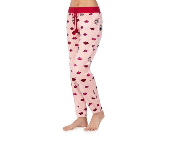 COZY TIME PLUSH PANT PINK - APPAREL - Betsey Johnson