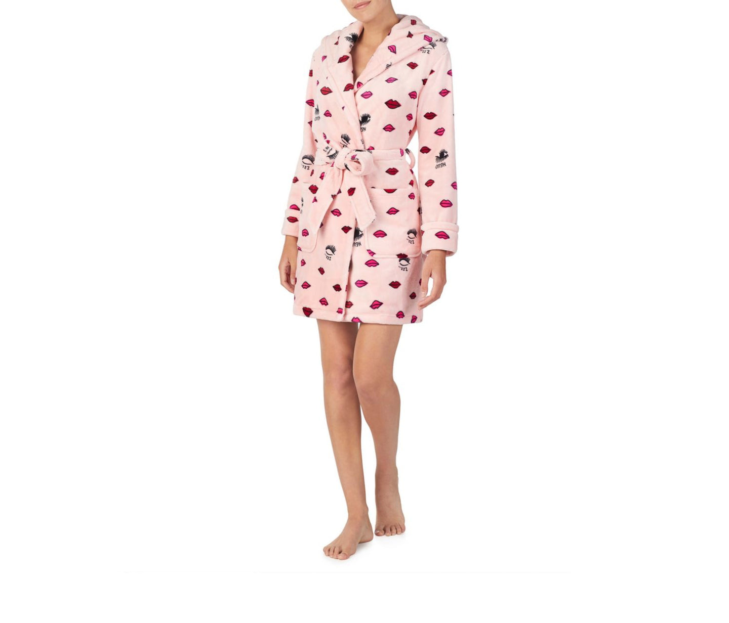 COZY TIME PLUSH ROBE PINK - APPAREL - Betsey Johnson