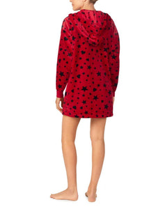 COZY TIME PLUSH TUNIC RED