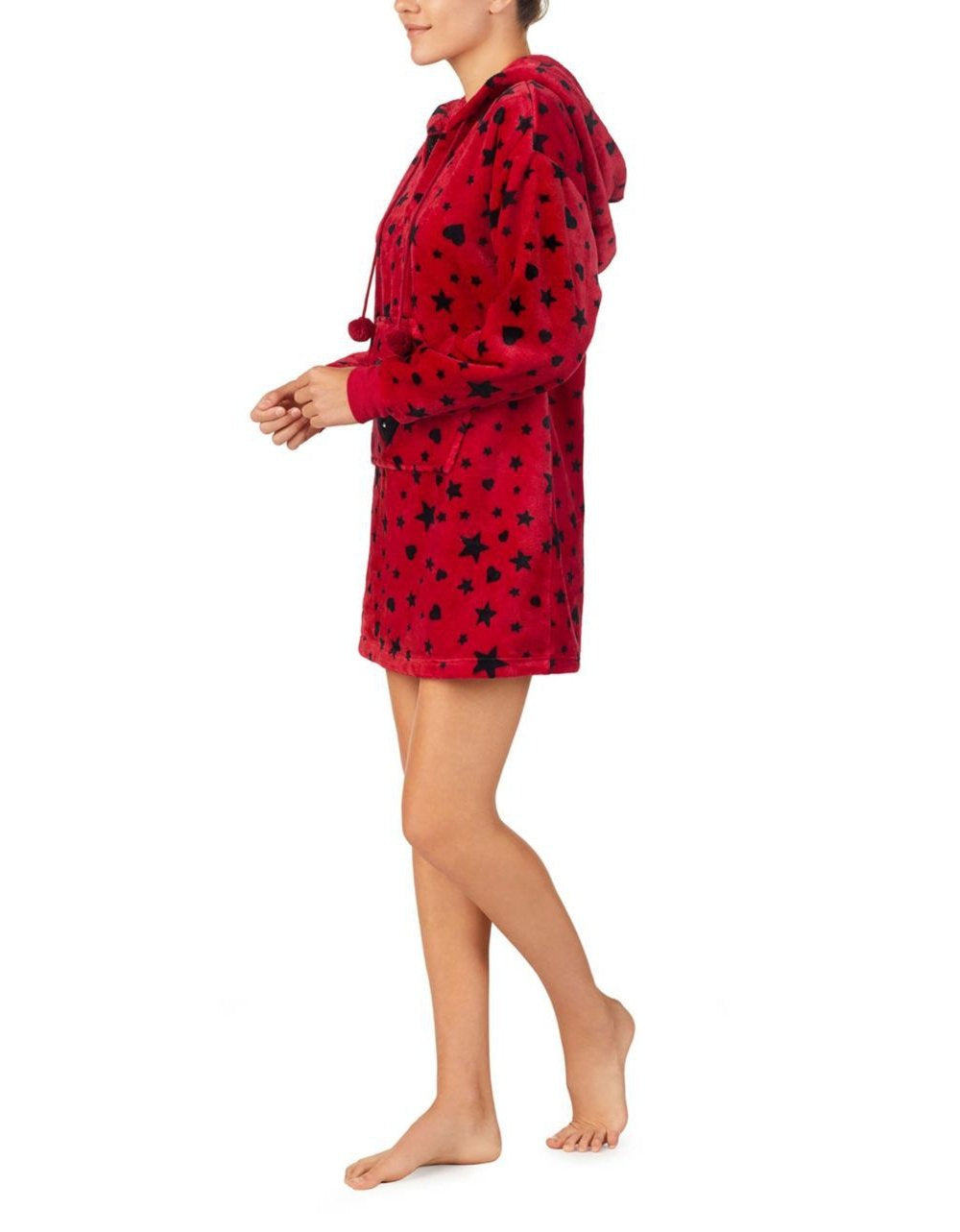 COZY TIME PLUSH TUNIC RED - APPAREL - Betsey Johnson