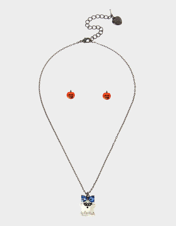 CREEP IT REAL GHOST SET WHITE - JEWELRY - Betsey Johnson