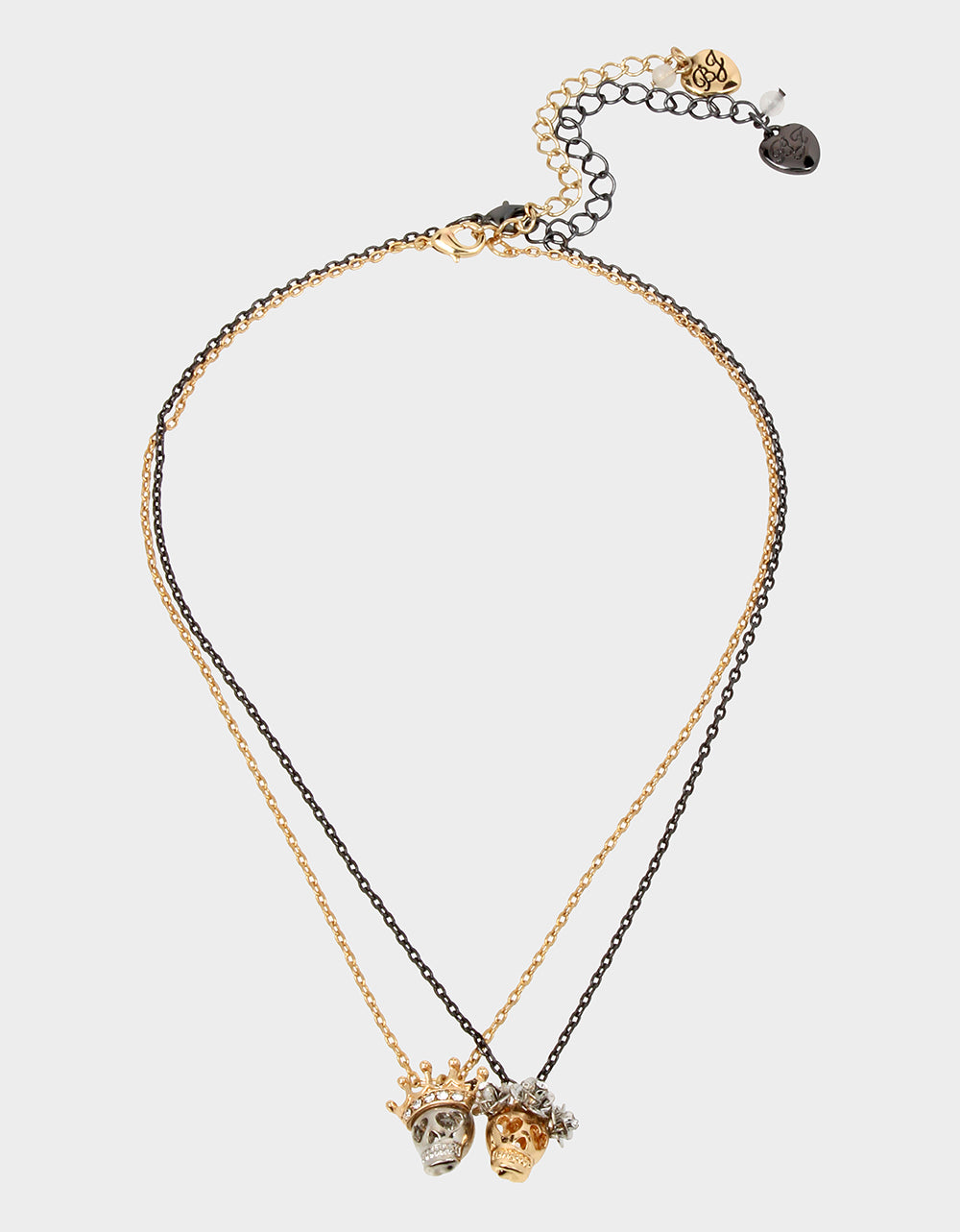 CREEP IT REAL KING QUEEN SET CRYSTAL - JEWELRY - Betsey Johnson