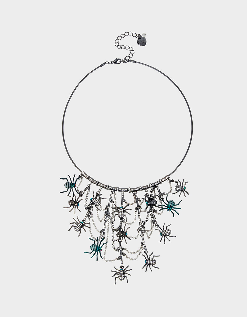 CREEP IT REAL STATEMENT NECKLACE TEAL - JEWELRY - Betsey Johnson