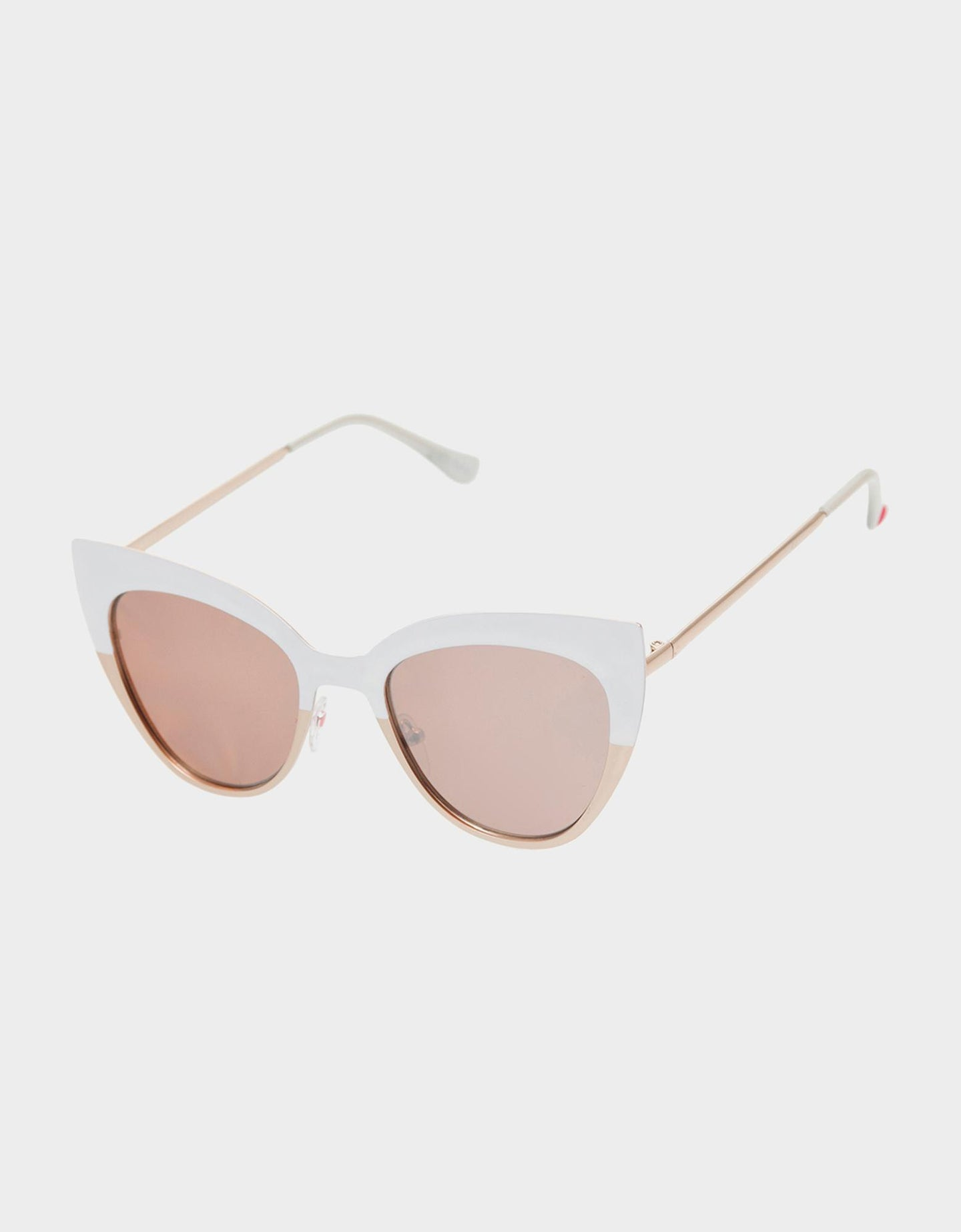 CRISP CAT EYE SUNGLASSES WHITE - ACCESSORIES - Betsey Johnson