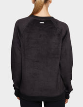 CROSSOVER SHERPA SWEATSHIRT BLACK - APPAREL - Betsey Johnson