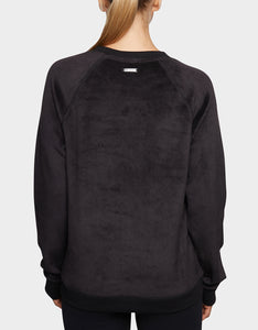 CROSSOVER SHERPA SWEATSHIRT BLACK