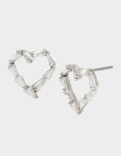 CRYSTAL CUTIES HEART STUD EARRINGS CRYSTAL - JEWELRY - Betsey Johnson