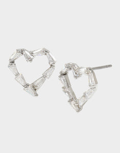 CRYSTAL CUTIES HEART STUD EARRINGS CRYSTAL