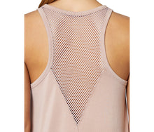 CUTOUT MESH RACERBACK TANK BLUSH - APPAREL - Betsey Johnson